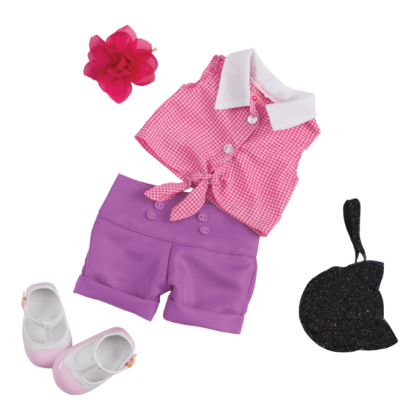 Summer-Spectacular-retro-outfit for 18-inch Dolls