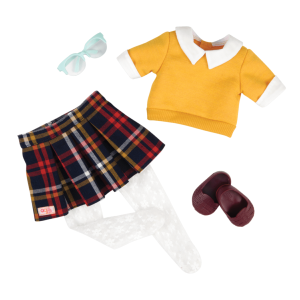 Plaid to Be Here Retro Outfit for 18-inch Dolls