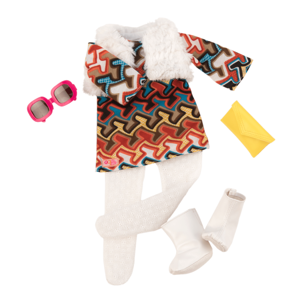 Pretty Groovy Retro Outfit for 18-inch Dolls