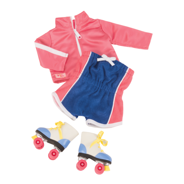 Roller Disco Retro Outfit for 18-inch Dolls