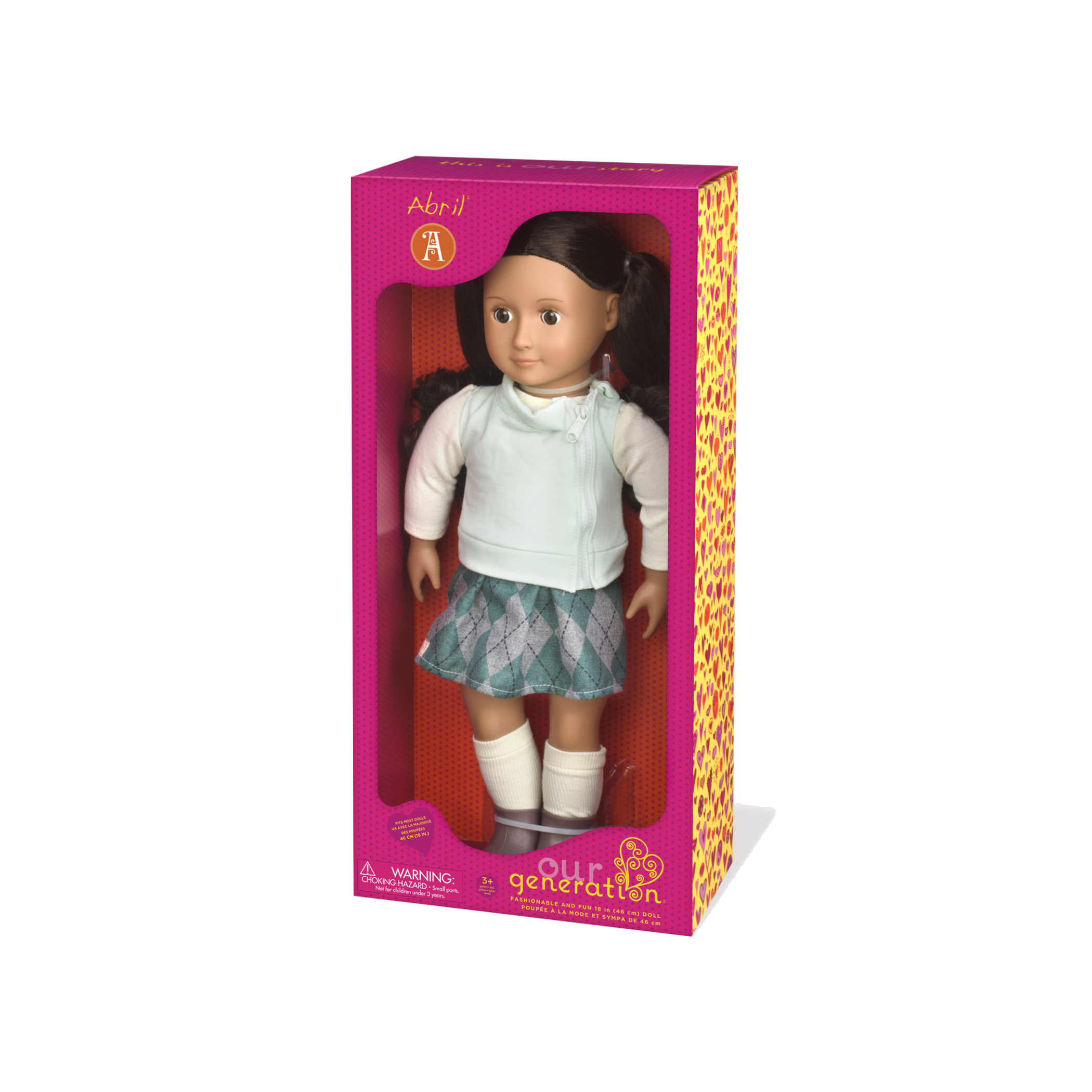 Abril 18-inch Doll package view