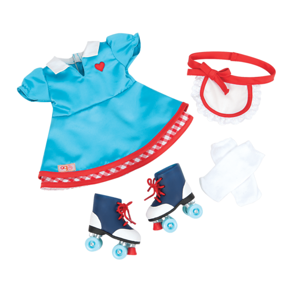 Soda Pop Sweetheart Retro Outfit for 18-inch Dolls