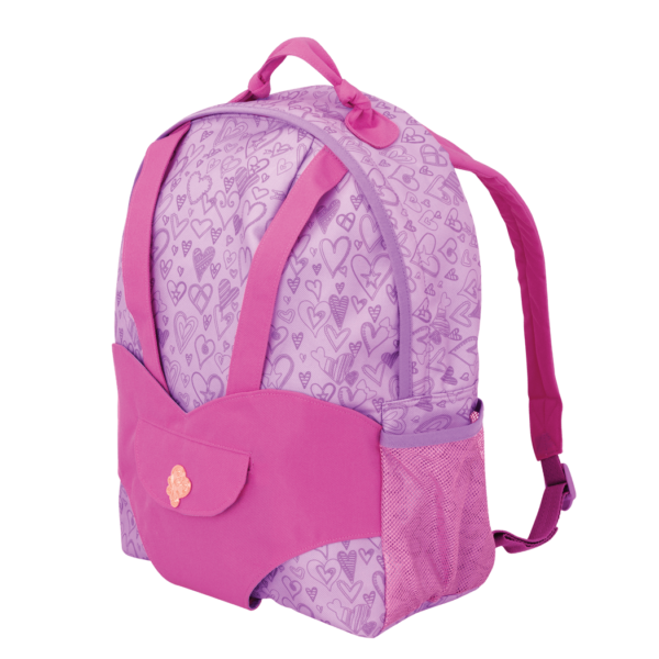 Hop On Carrier Backpack - Purple Hearts