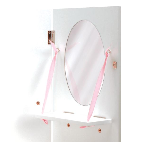 Mirror detail of Wooden Wardrobe Closet for 18-inch Dolls