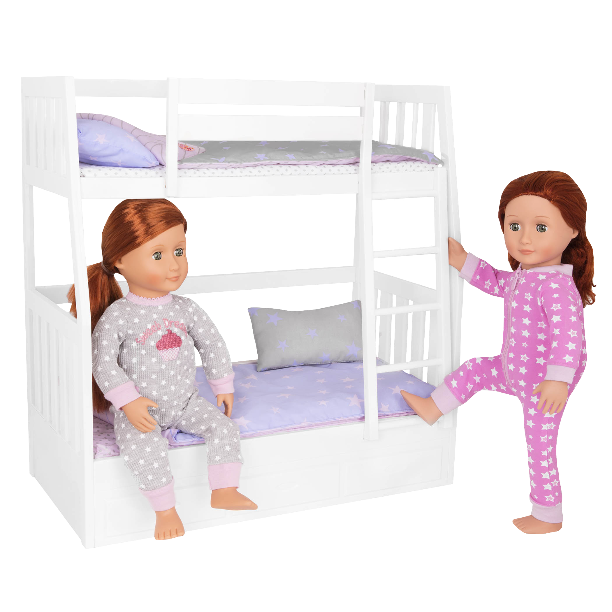 Picture of: Dream Bunks White Doll Bunk Bed Furniture Set Ourgeneration