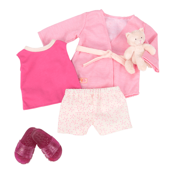 Summer Sleepover Pajama Outfit for 18-inch Dolls