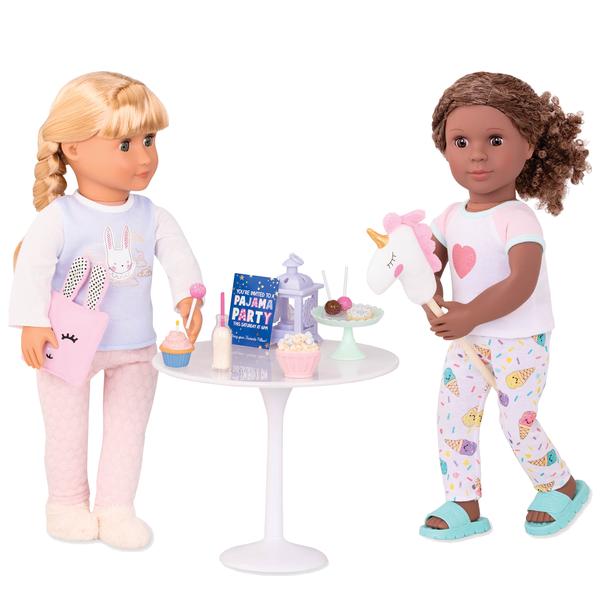 Jovie and Denelle having a sleepover party