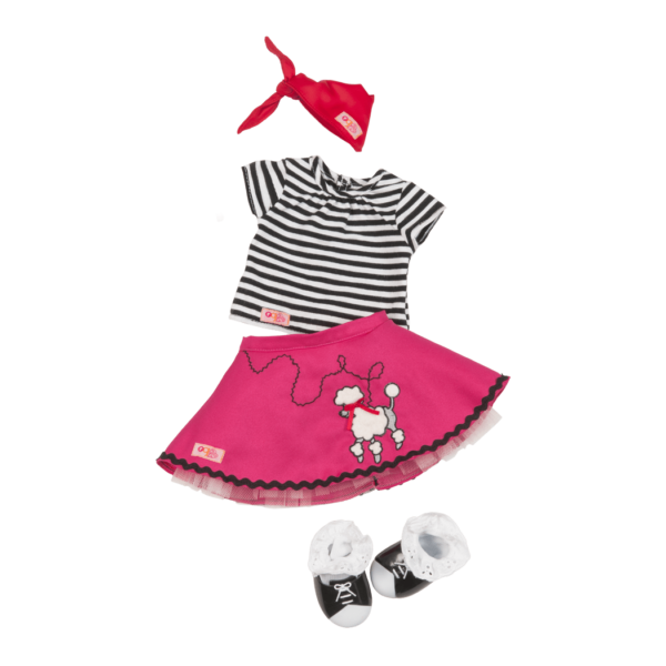 Bop Til You Drop Retro Outfit for 18-inch Dolls