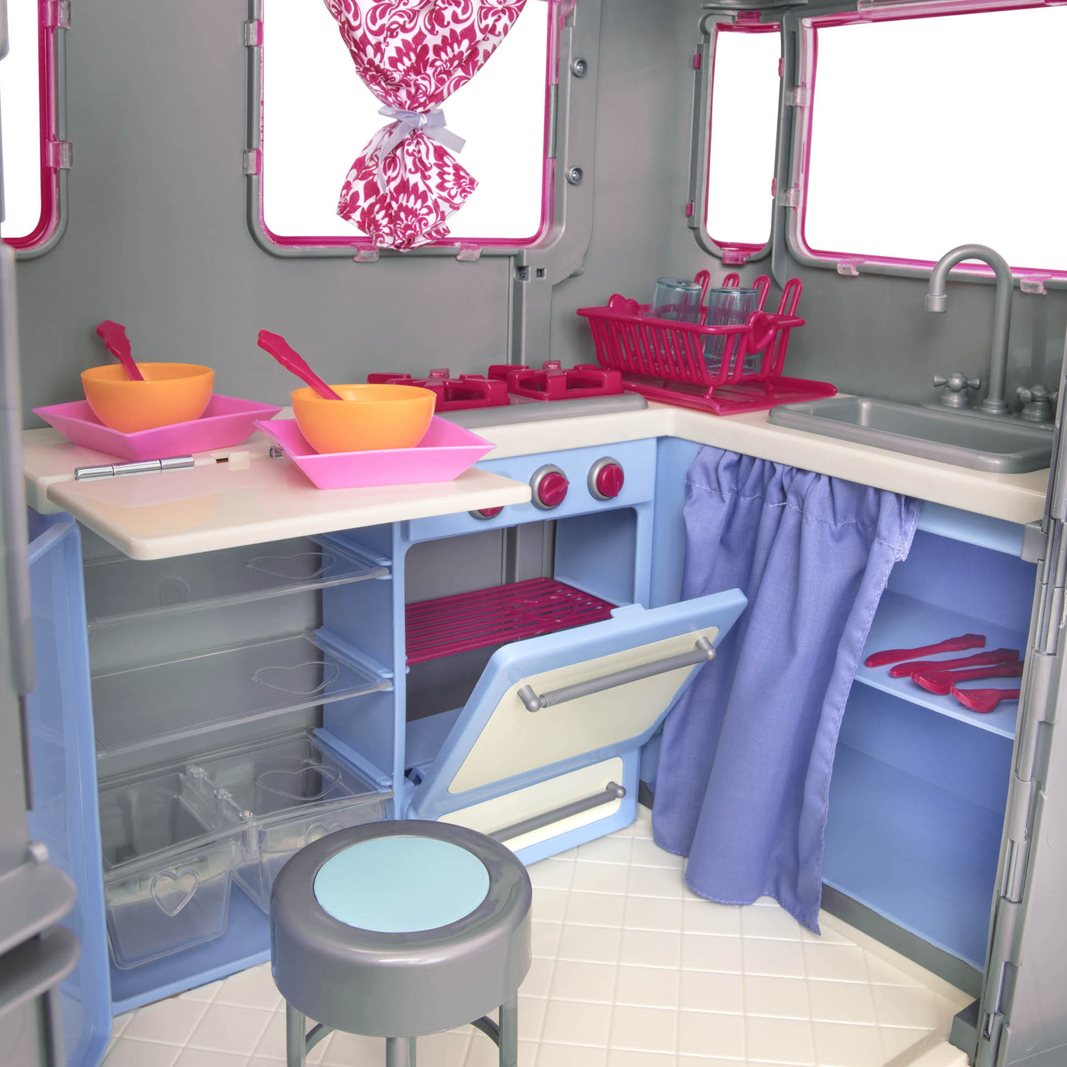 interior detail of RV Seeing You Camper