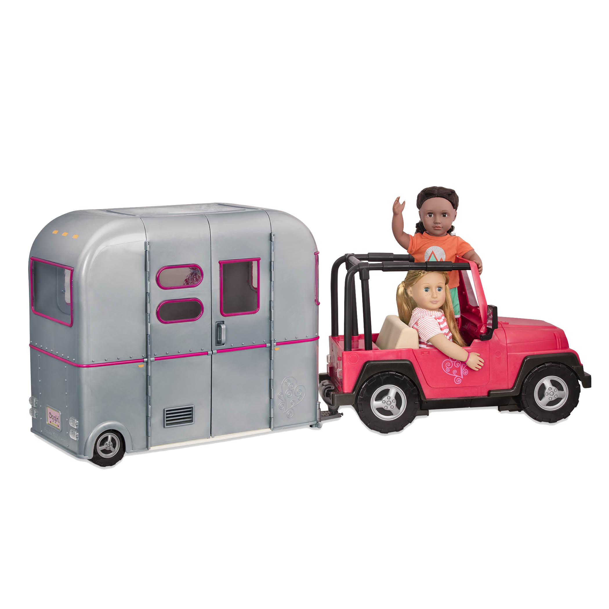 Shannon and Rashida driving in 4x4