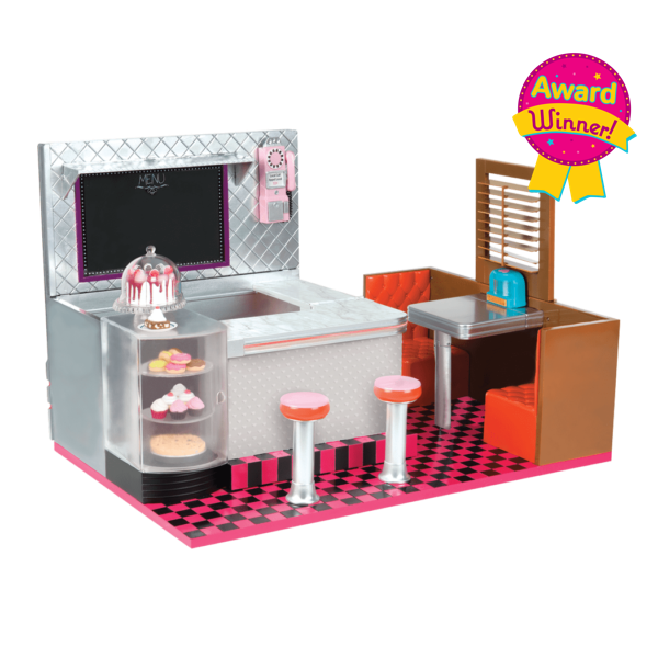 Bite to Eat Retro Diner for 18-inch Dolls-Award Winner!