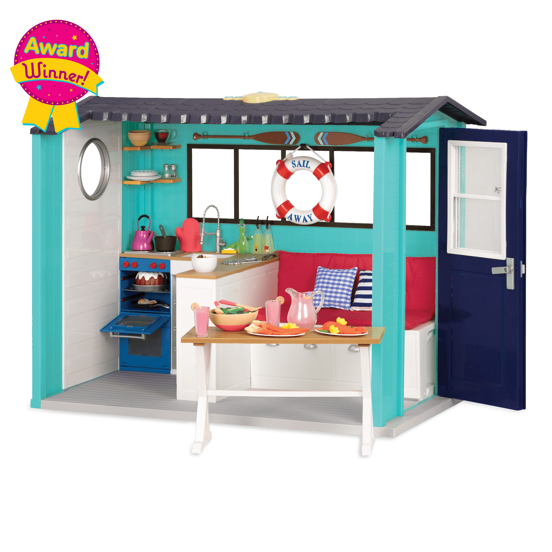 Seaside Beach House Playset for 18-inch Dolls -  Award Winner!