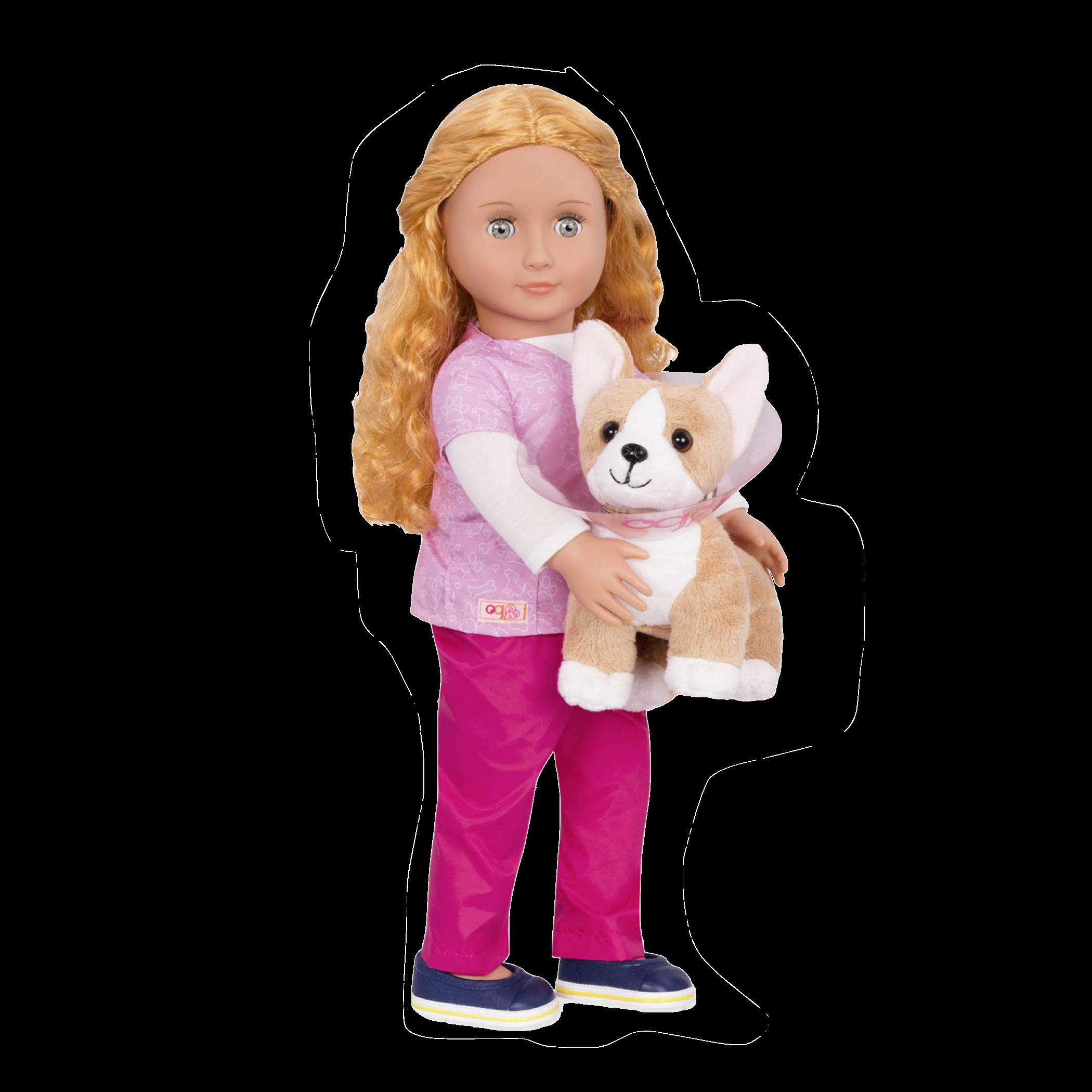 Anais Vet Doll with Corgi Pup