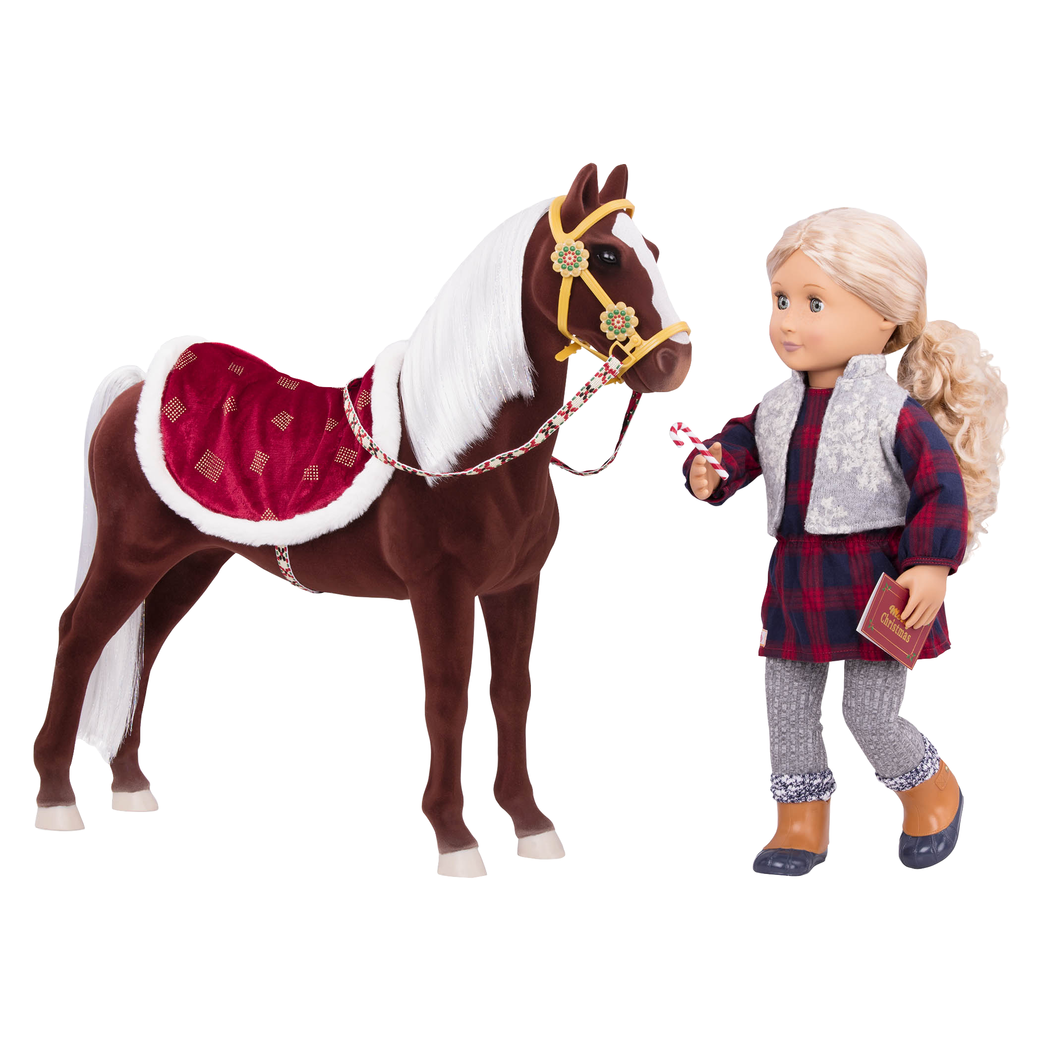 Coral with Horse and candy canes