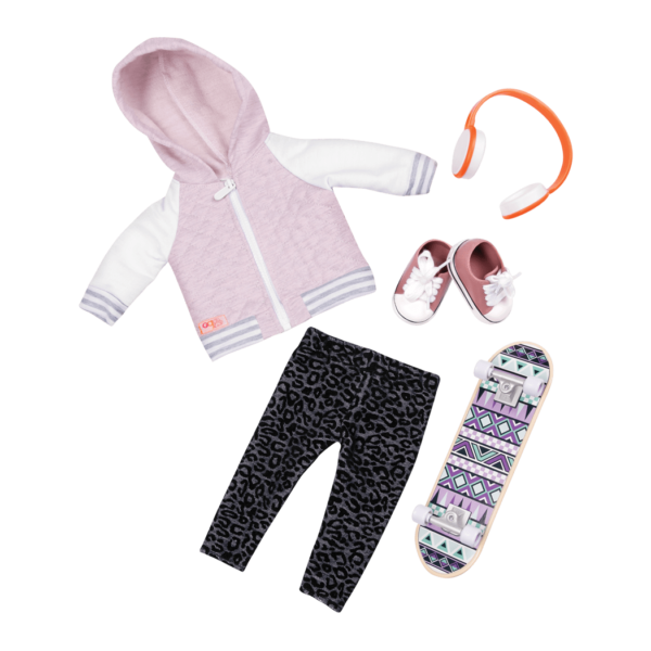 Fashion on Board Skateboard Outfit for 18-inch Dolls