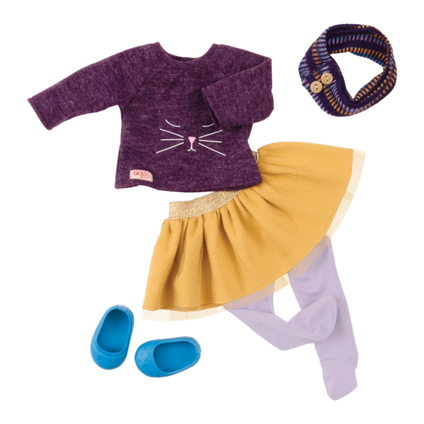 Cats Meow Oufit for 18-inch Dolls