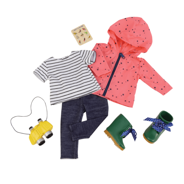 Nature Lover Birdwatching Outfit for 18-inch Dolls