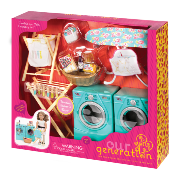 Tumble and Spin Laundry Set package detail