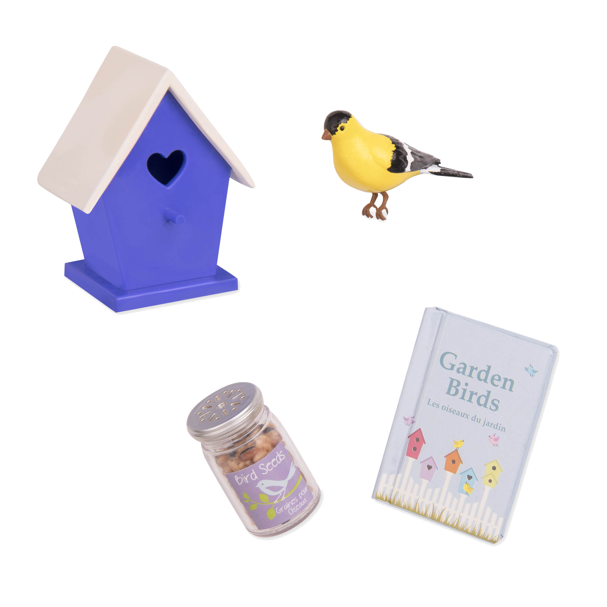 Nest-Door Neighbours Birdhouse Accessory Set for 18-inch Dolls
