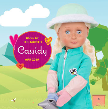 Cassidy Doll of the Month April 2019