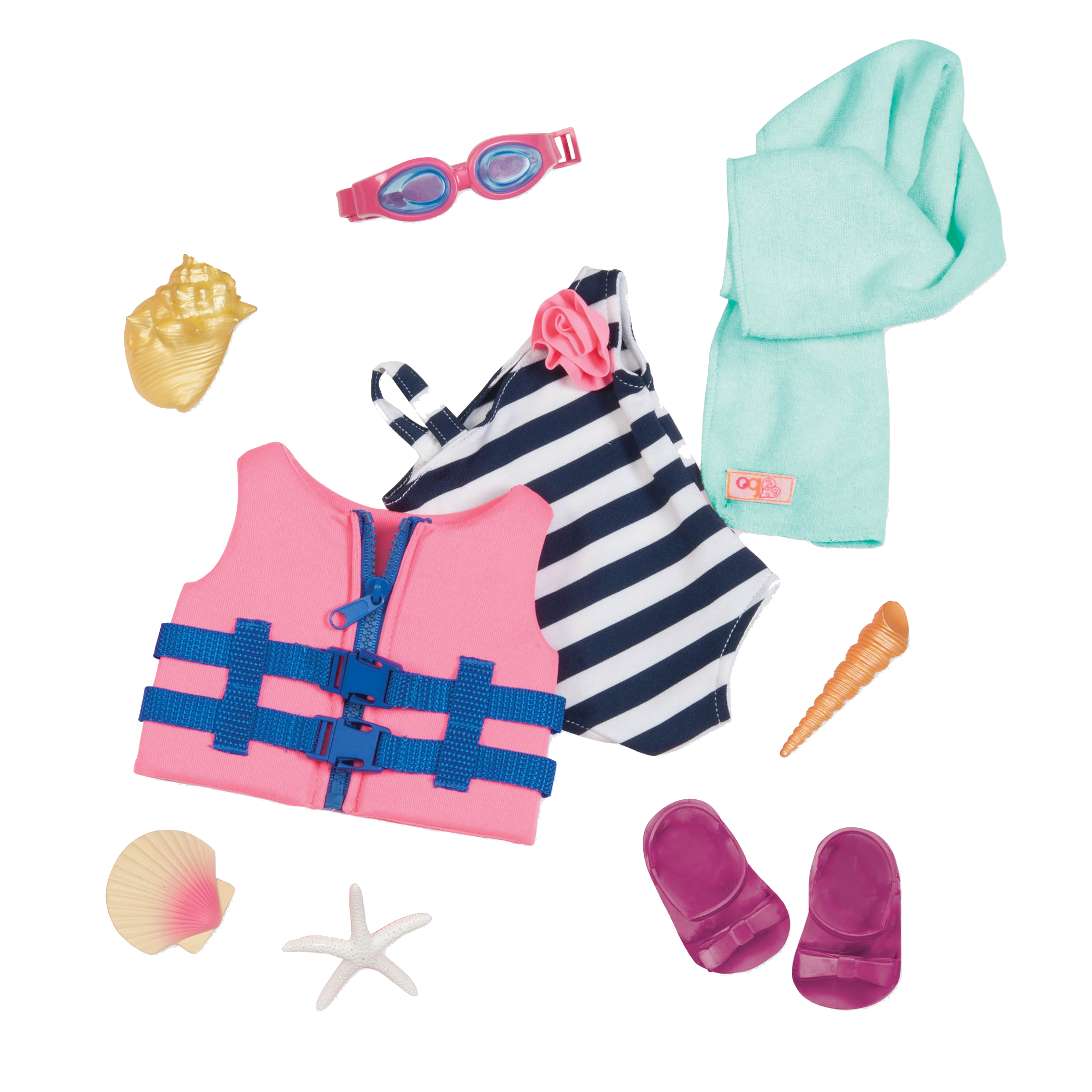 Fun Day Sun Day Beach Outfit for 18-inch Dolls