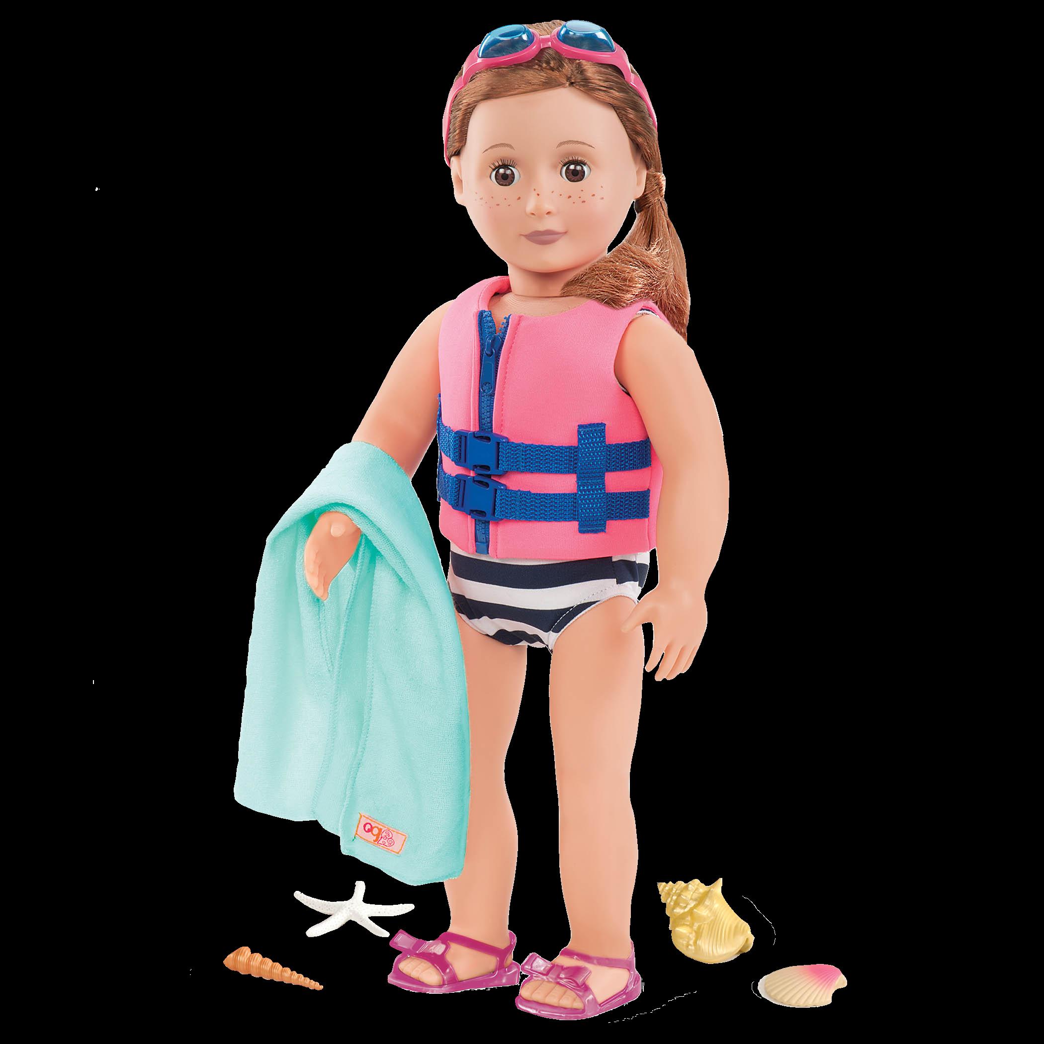 Eva wearing Fun Day Sun Day Beach Outfit