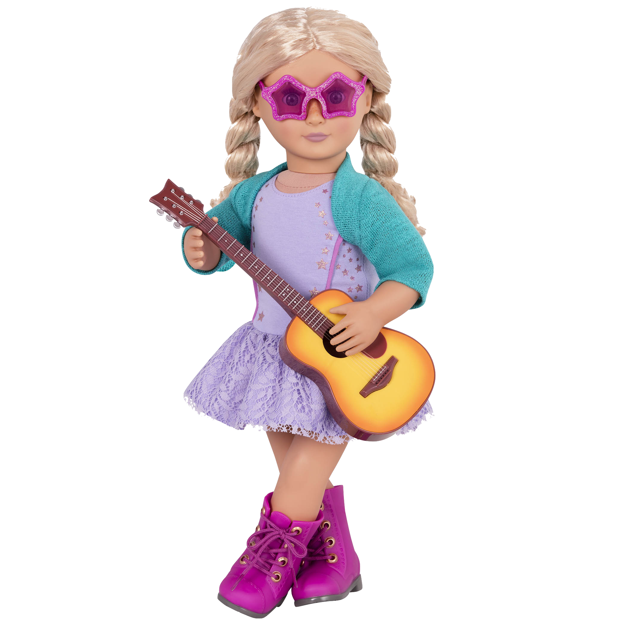 Coral wearing Melodies and Memories outfit and sunglasses