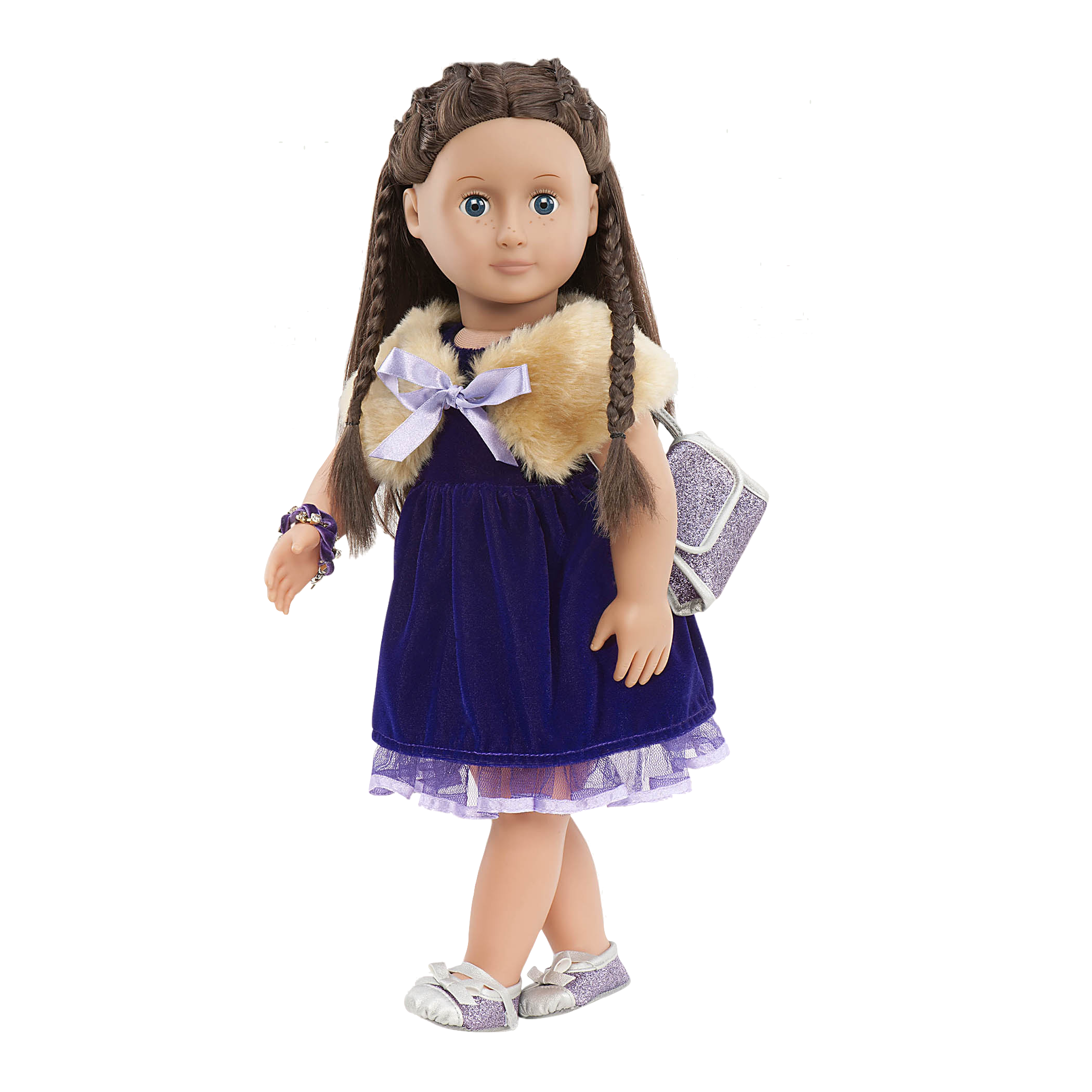 Neve wearing the Plus the Plush outfit