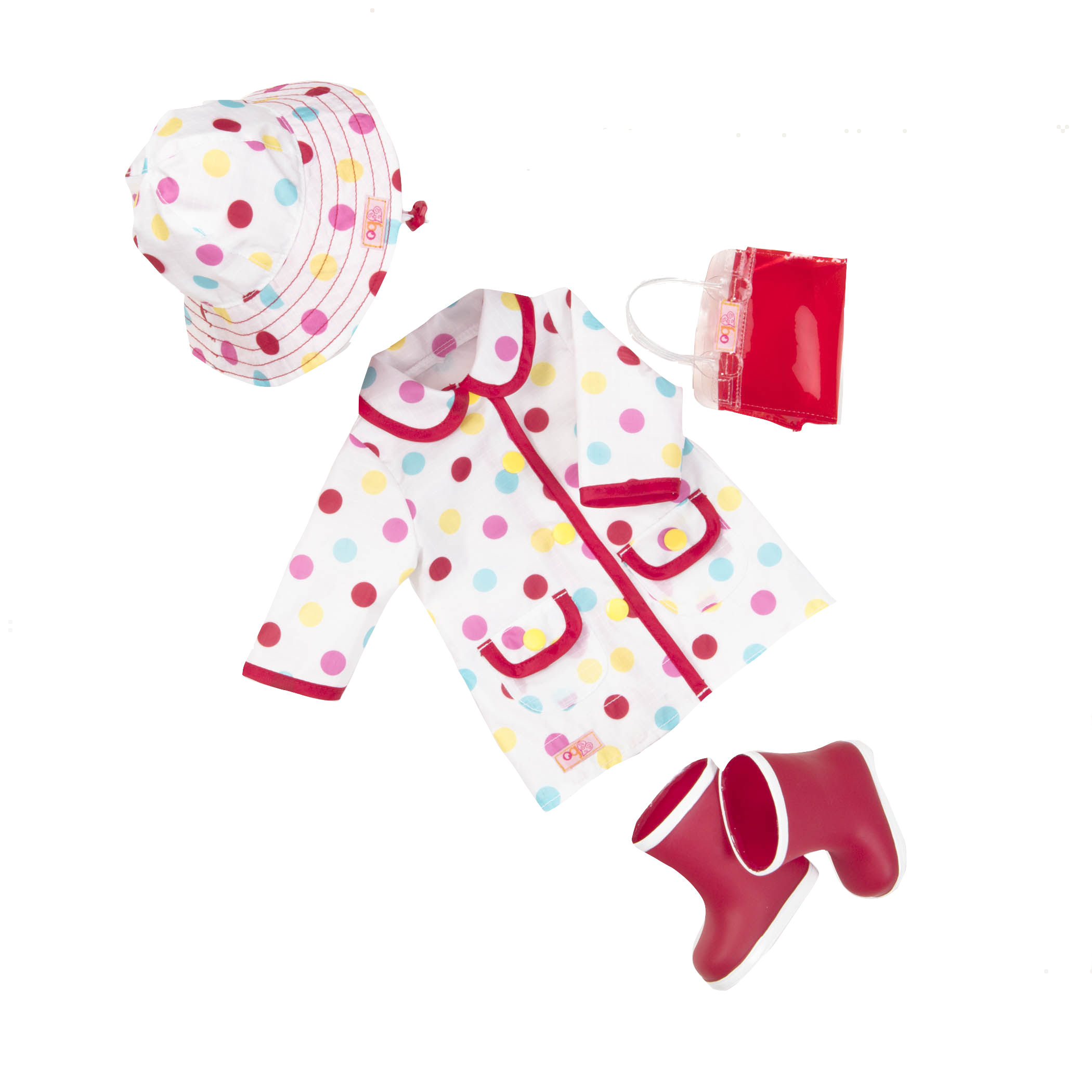 A Spot of Rain 18-inch Doll Raincoat Outfit