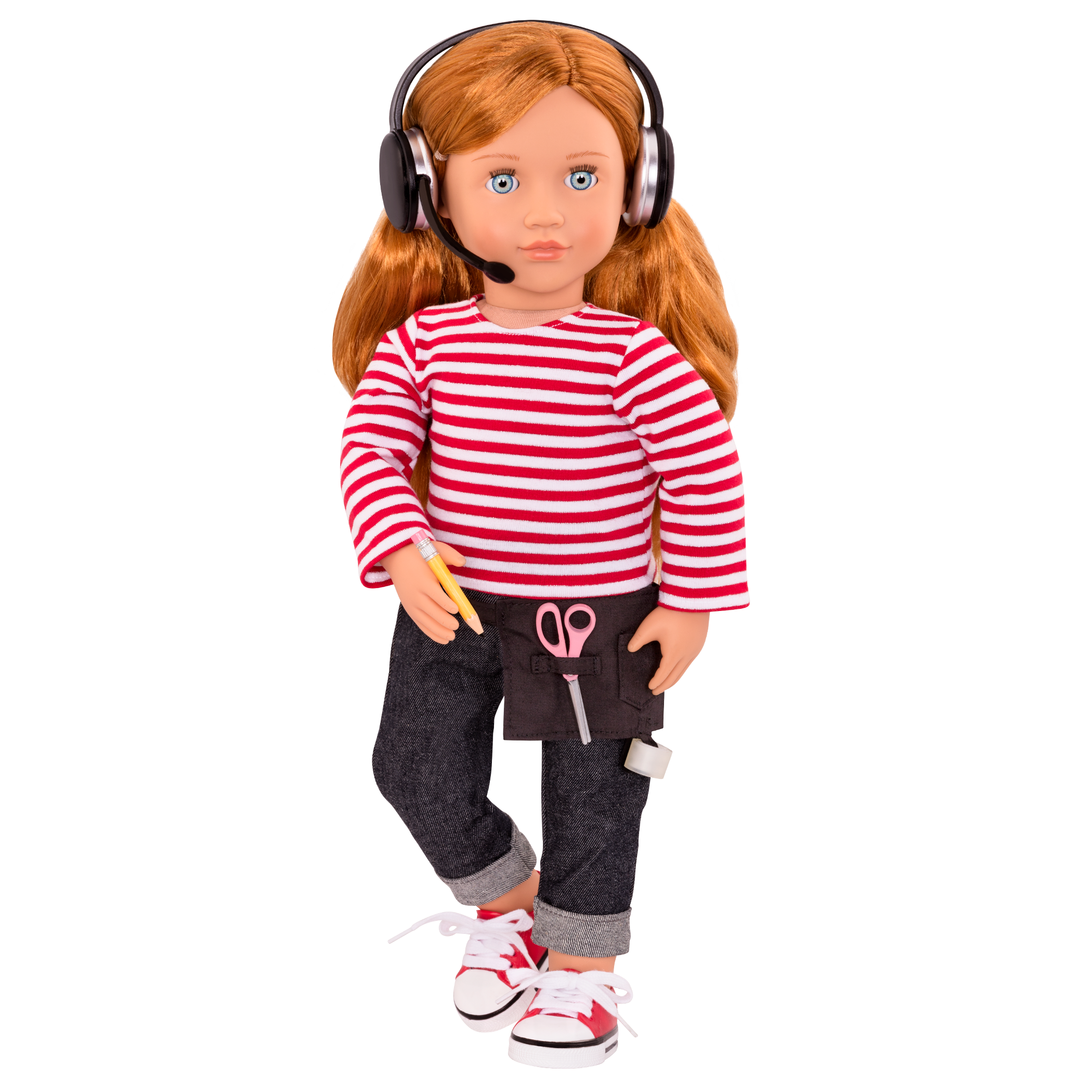 Mienna wearing outfit and headset