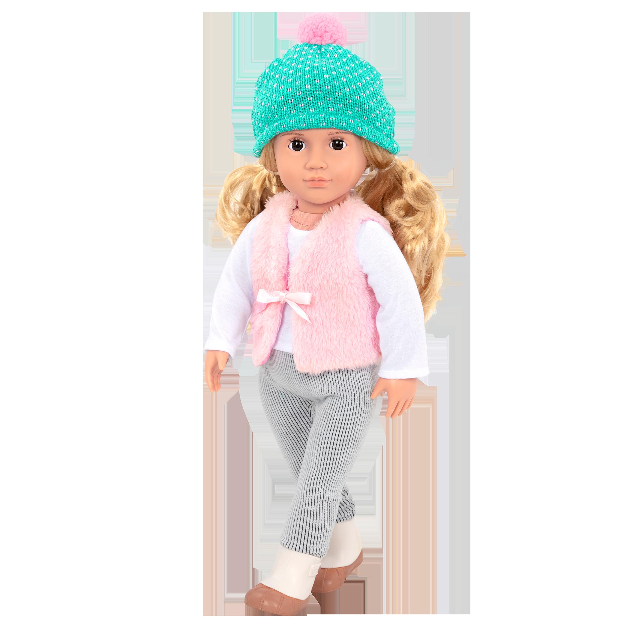 Noelle walking in the Fuzzy Feelings outfit