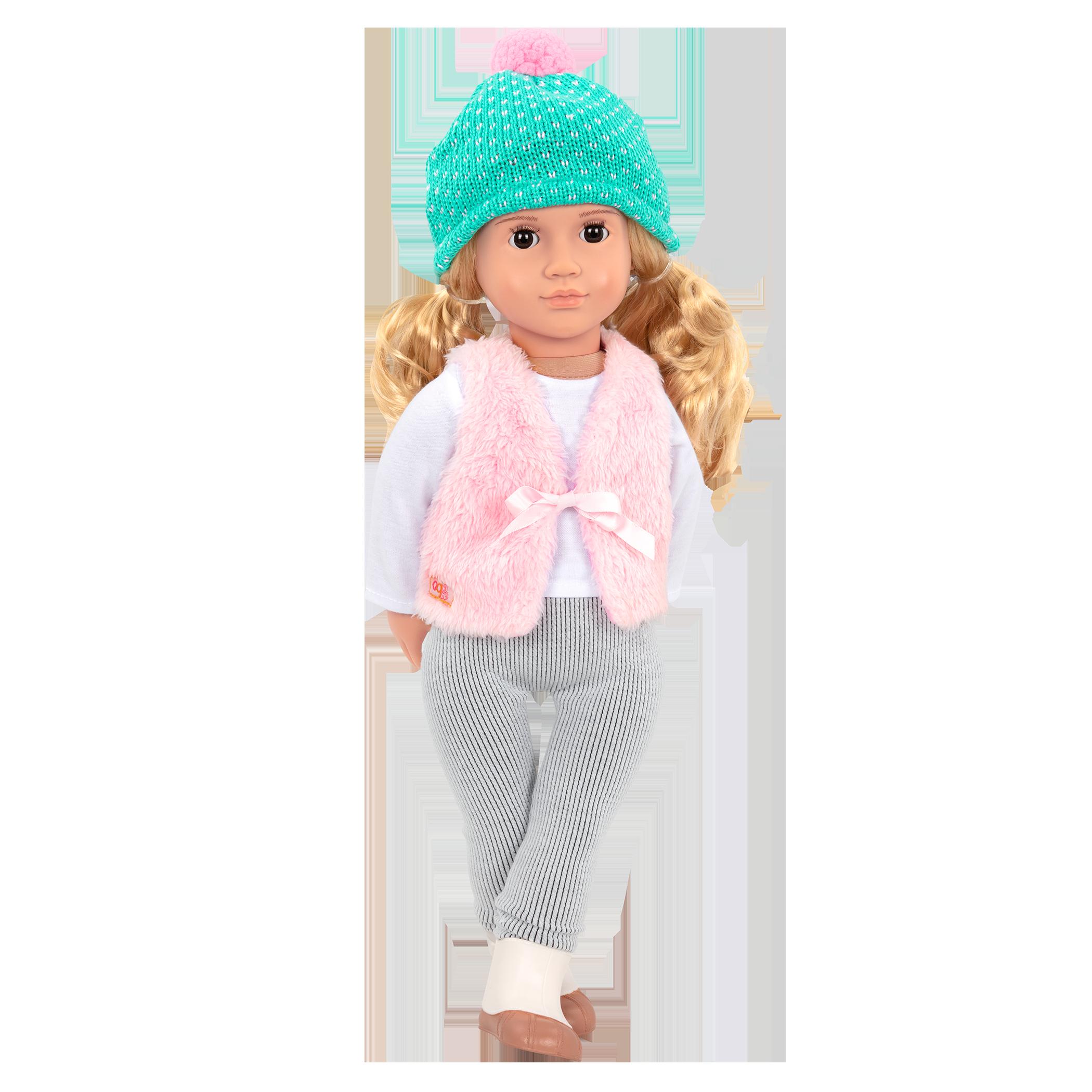 Noelle wearing the Fuzzy Feelings outfit