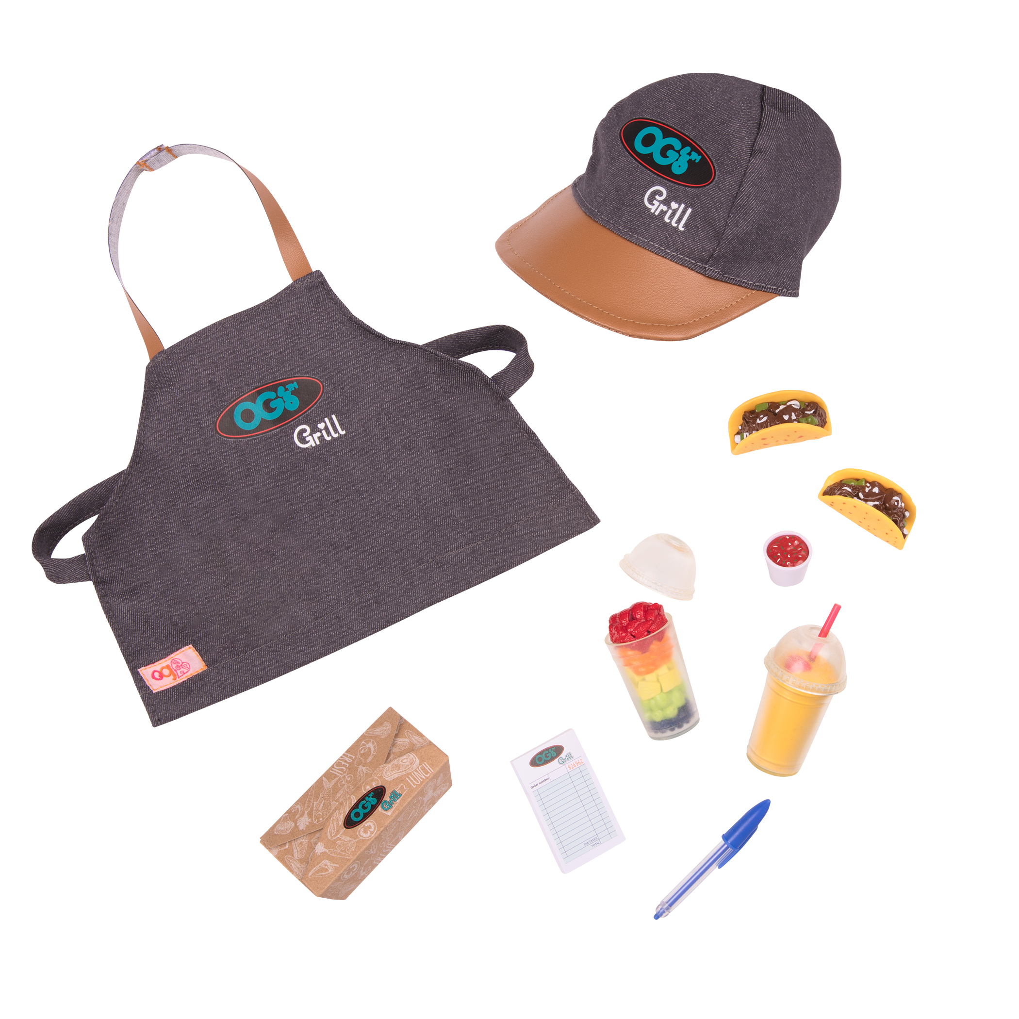 Detail of Food Truck outfit and accessories