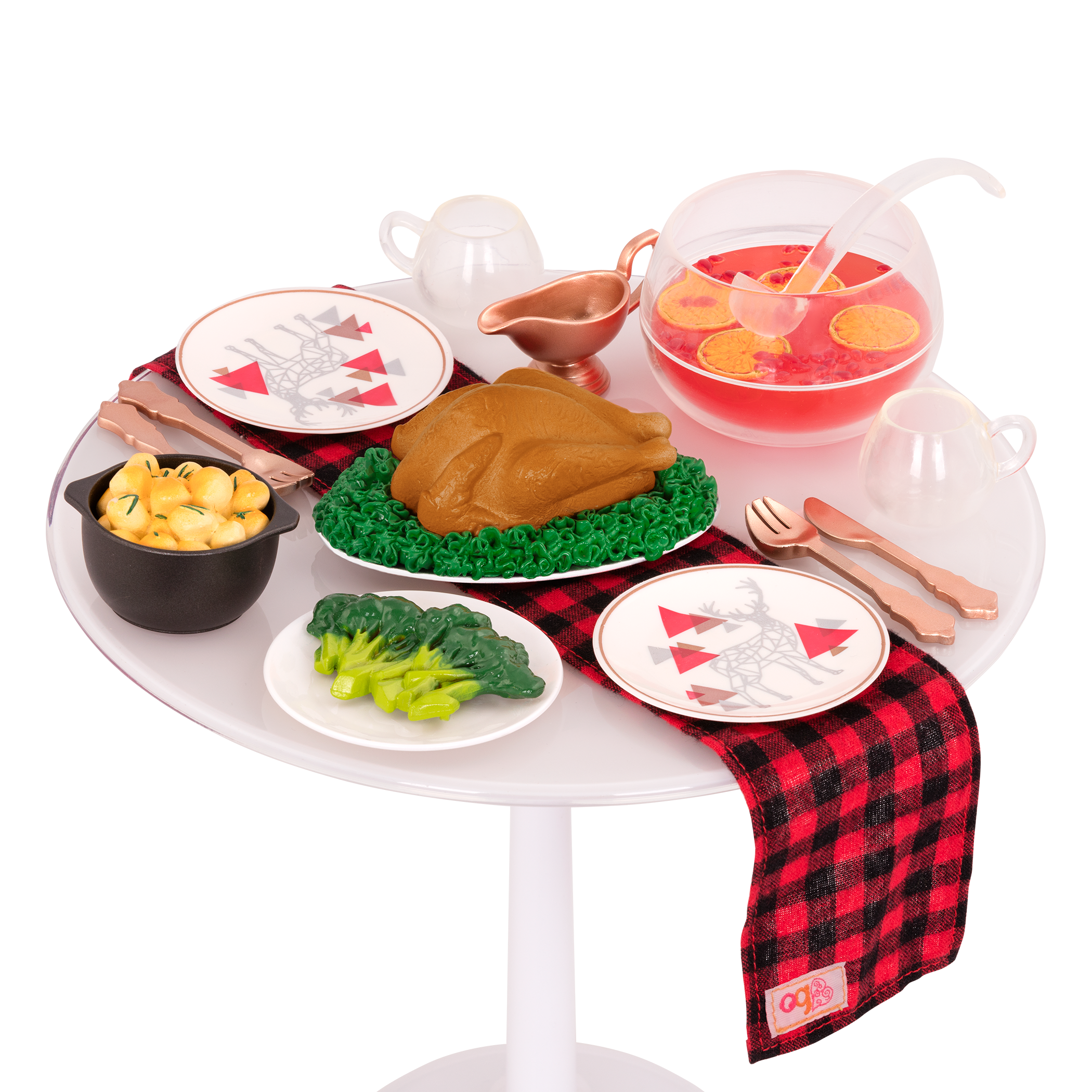 Festive Feast dinner set on table