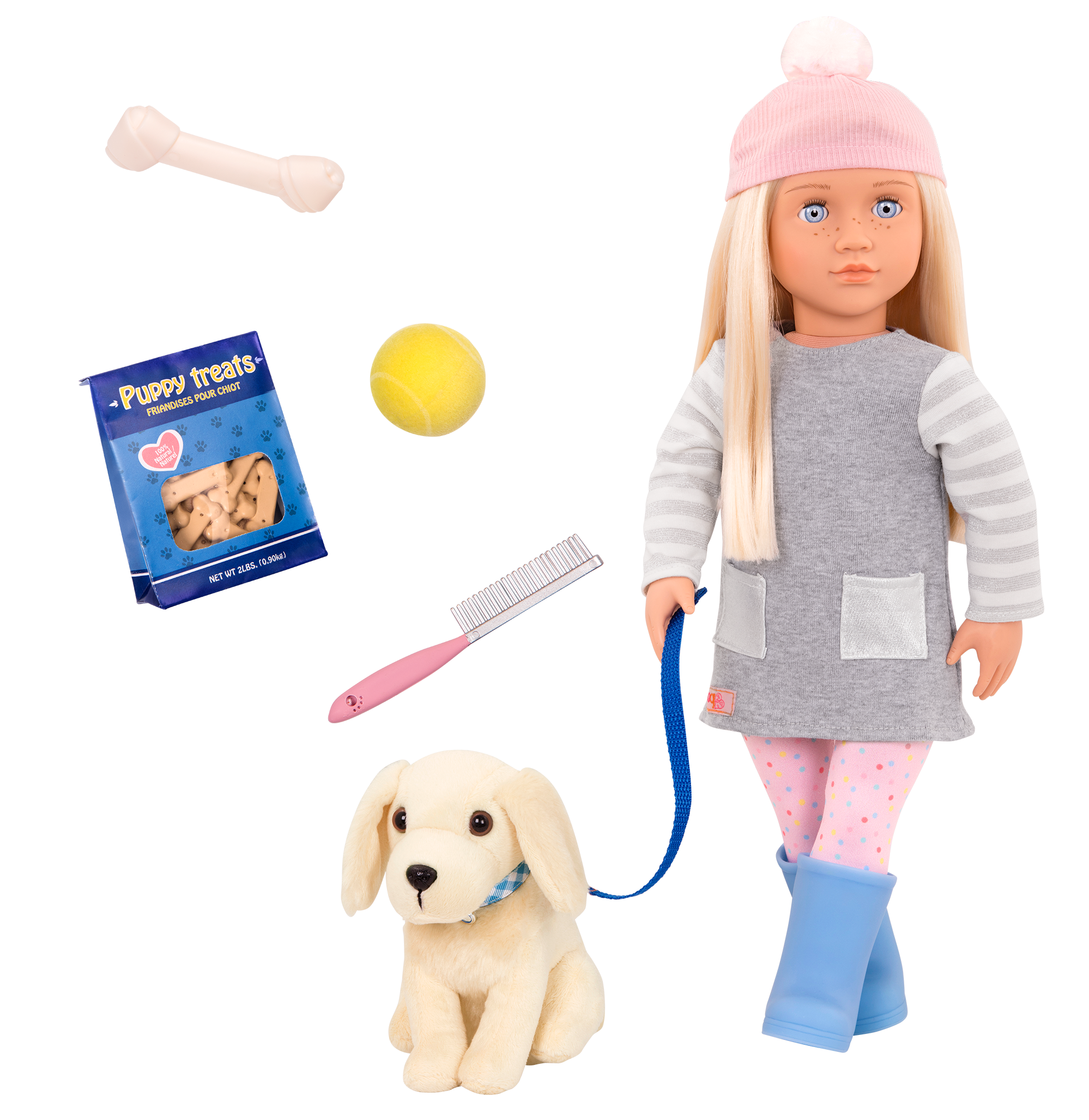 Meagan and Golden Retriever 18-inch doll and pet