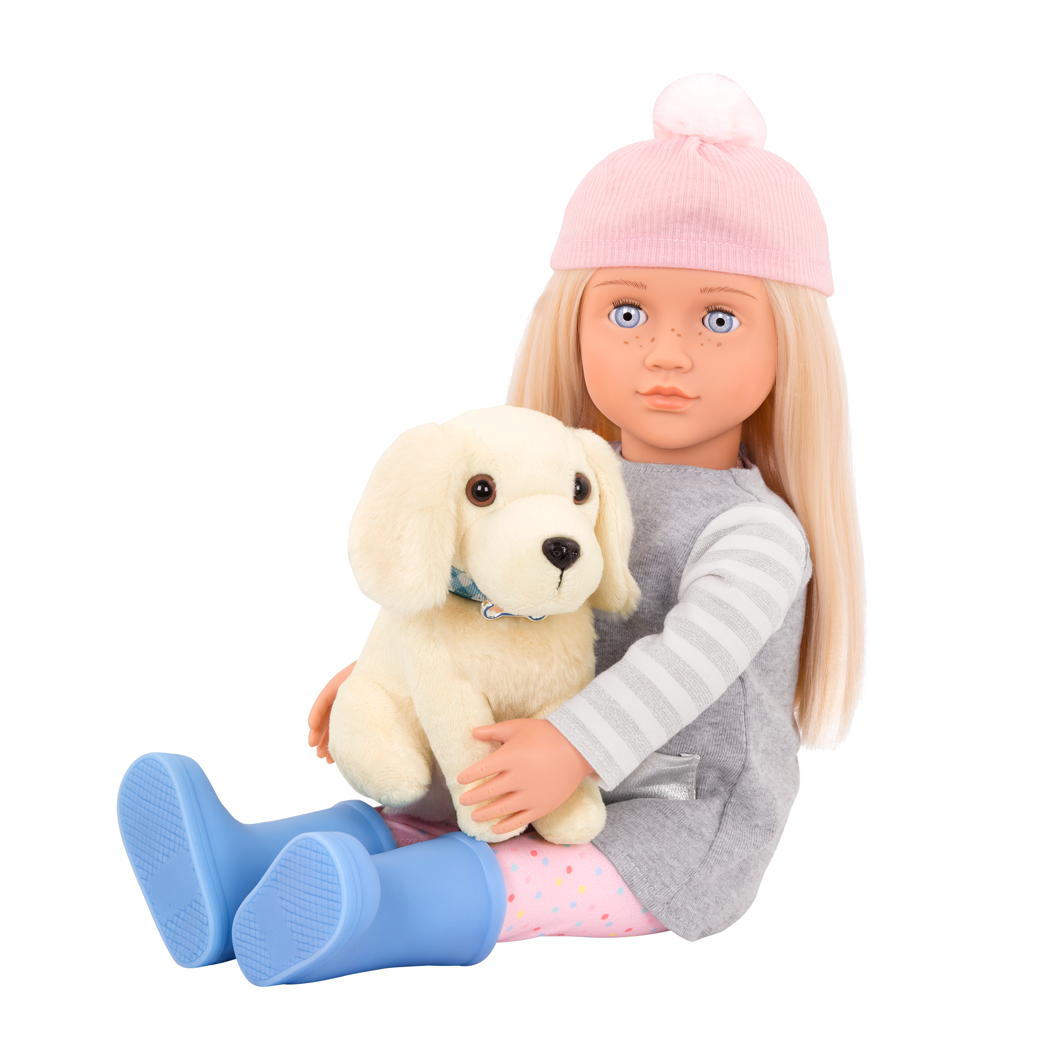 Meagan sitting with Golden Retriever in her lap