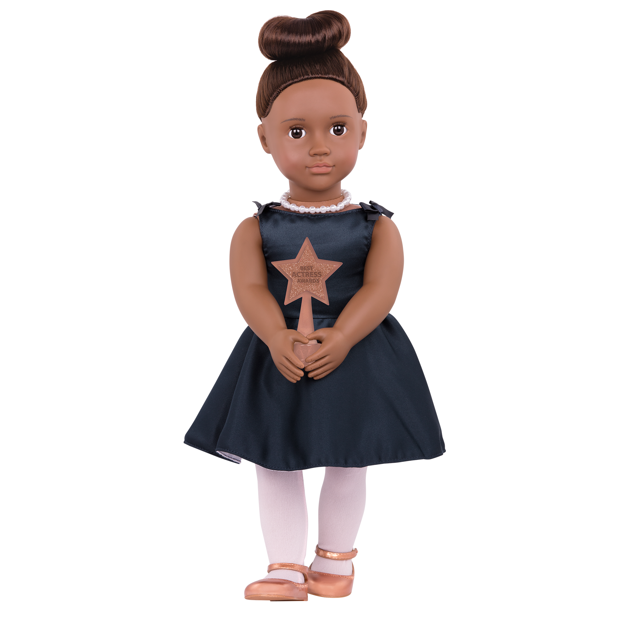 Malika Regular 18-inch Actress Doll holding award