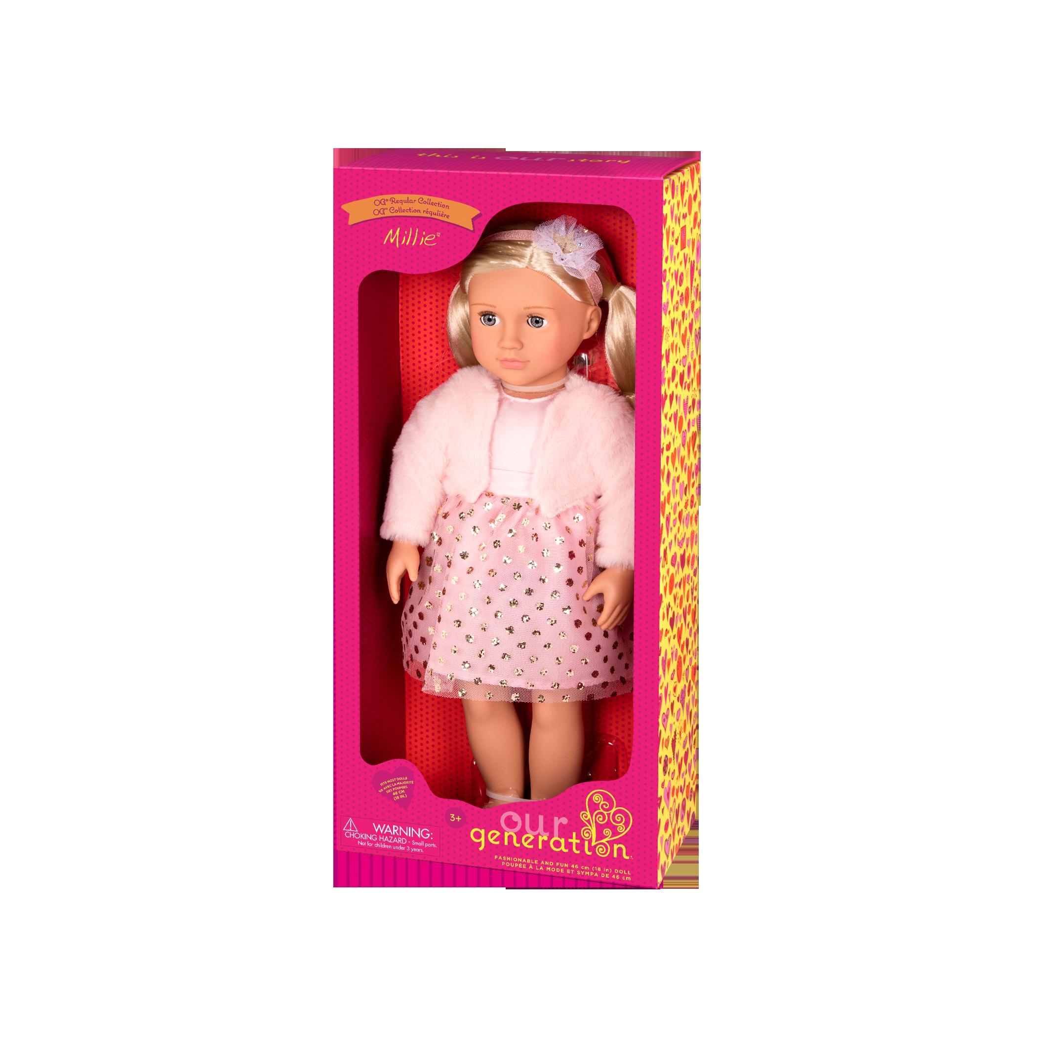 Millie Regular 18-inch Doll in packaging