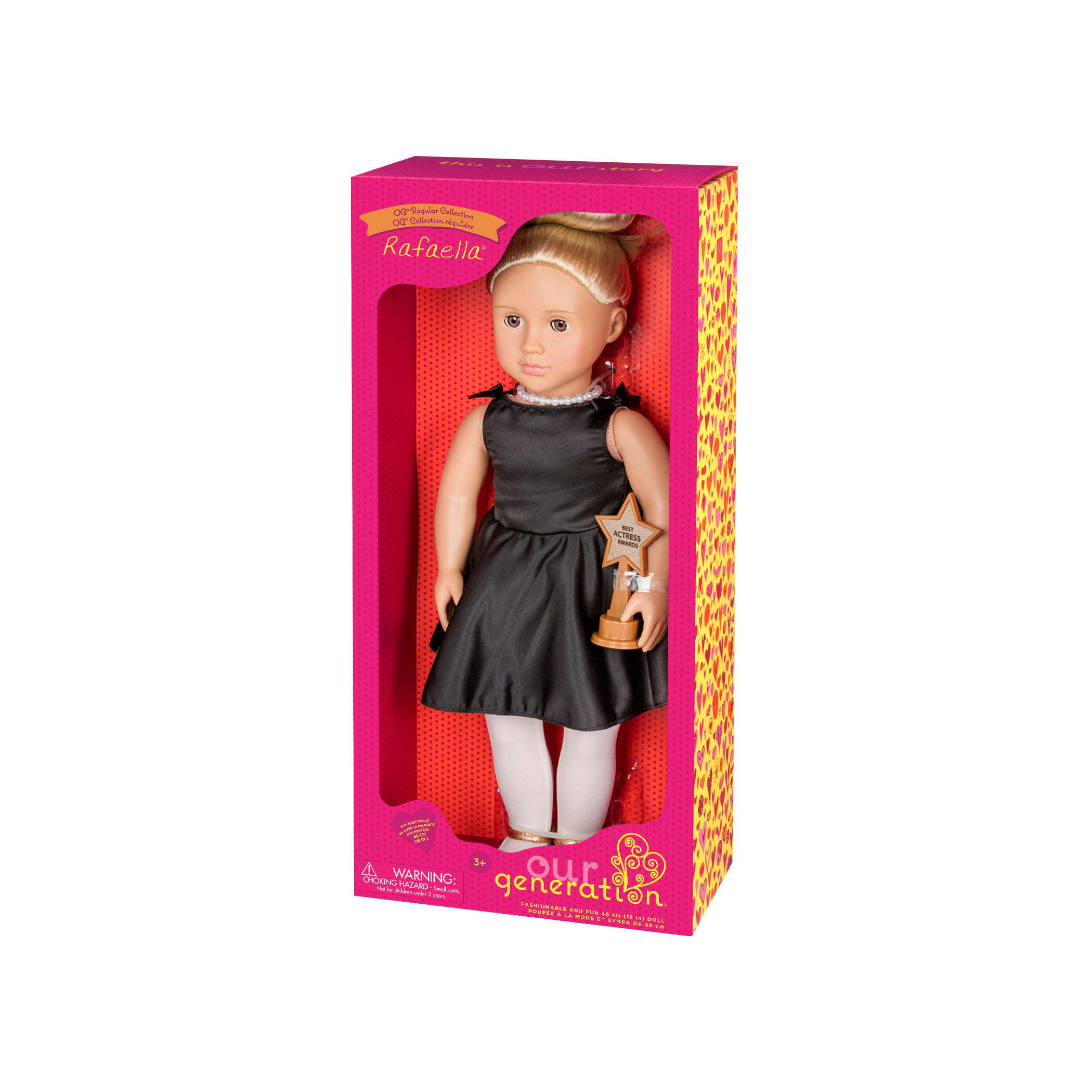 Rafaella Regular 18-inch Actress Doll in packaging
