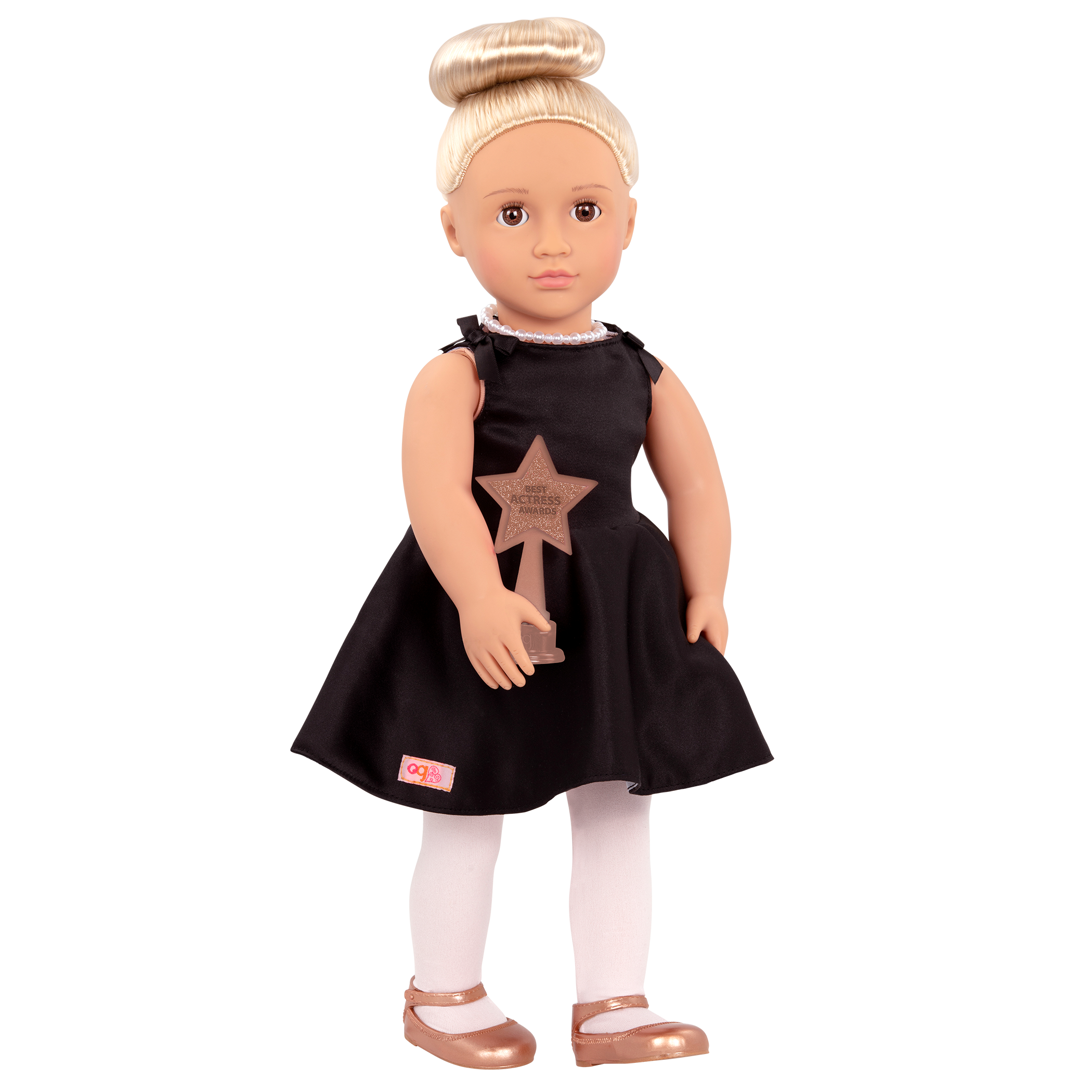 Rafaella Regular 18-inch Actress Doll holding award