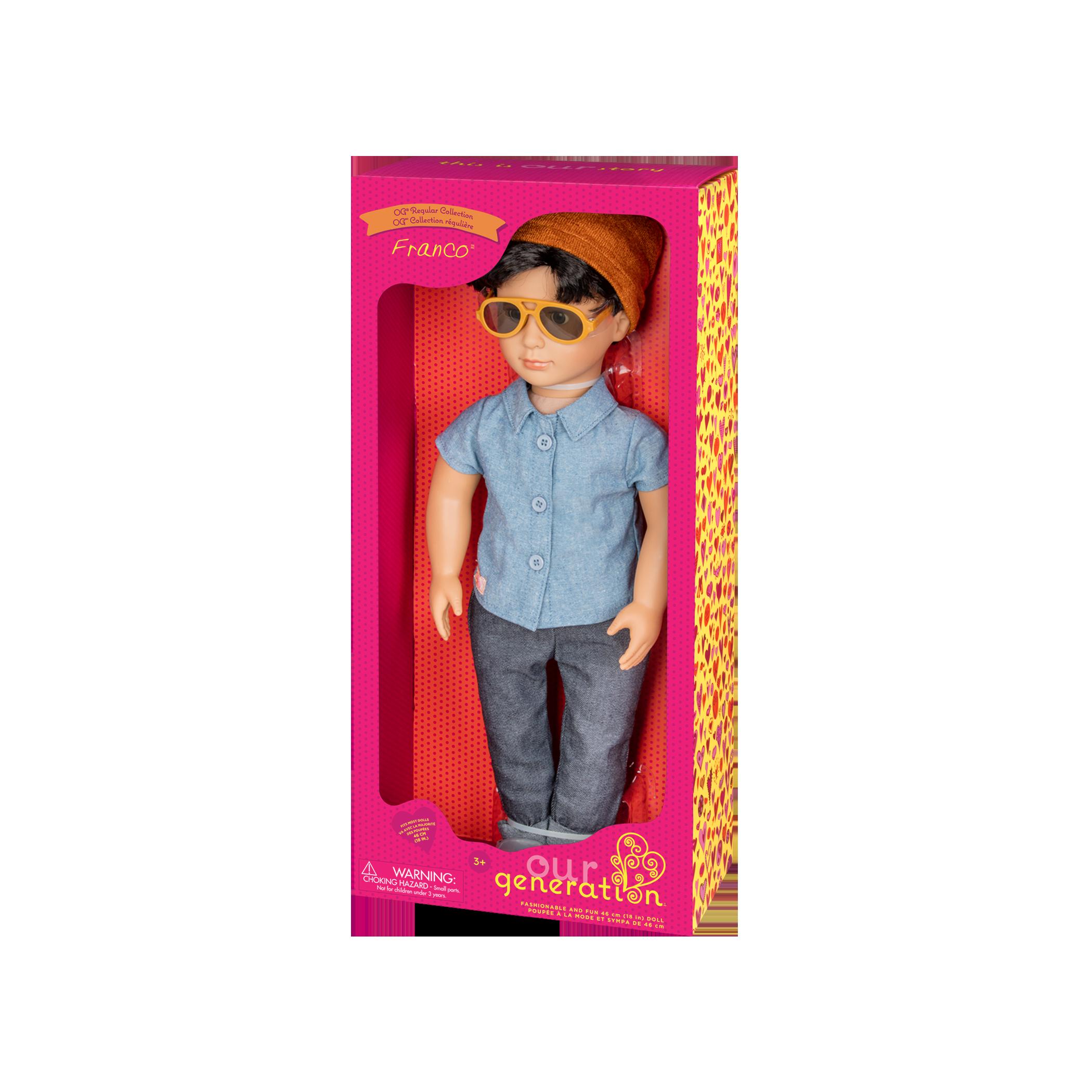 Franco Regular 18-inch Boy Doll in packaging