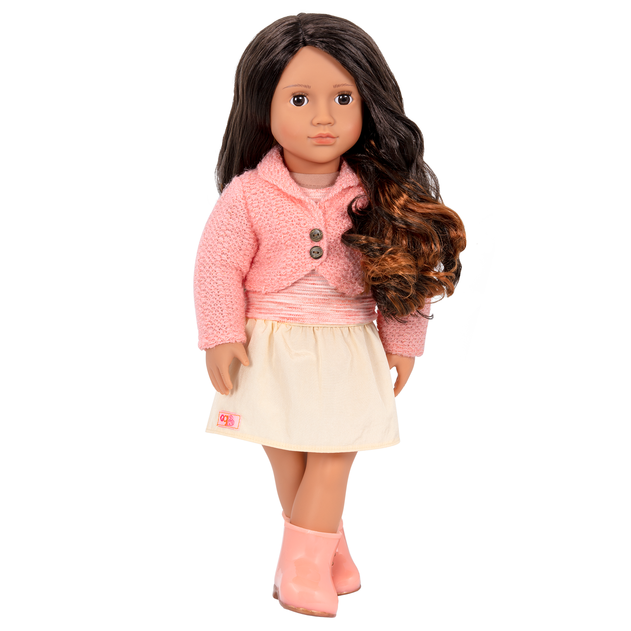 Maricela Regular 18-inch Doll with legs crossed