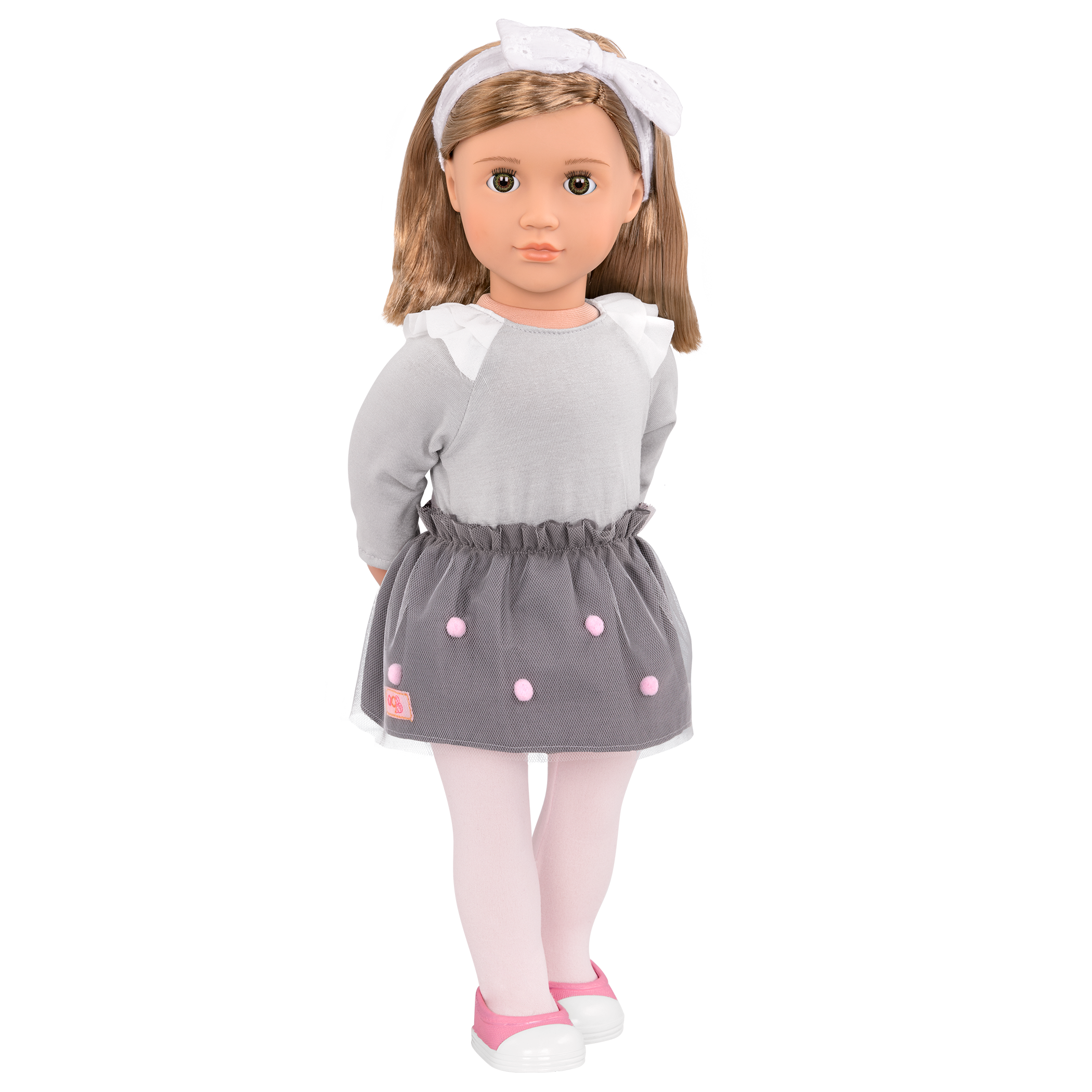 Bina 18-inch Doll with pom pom skirt