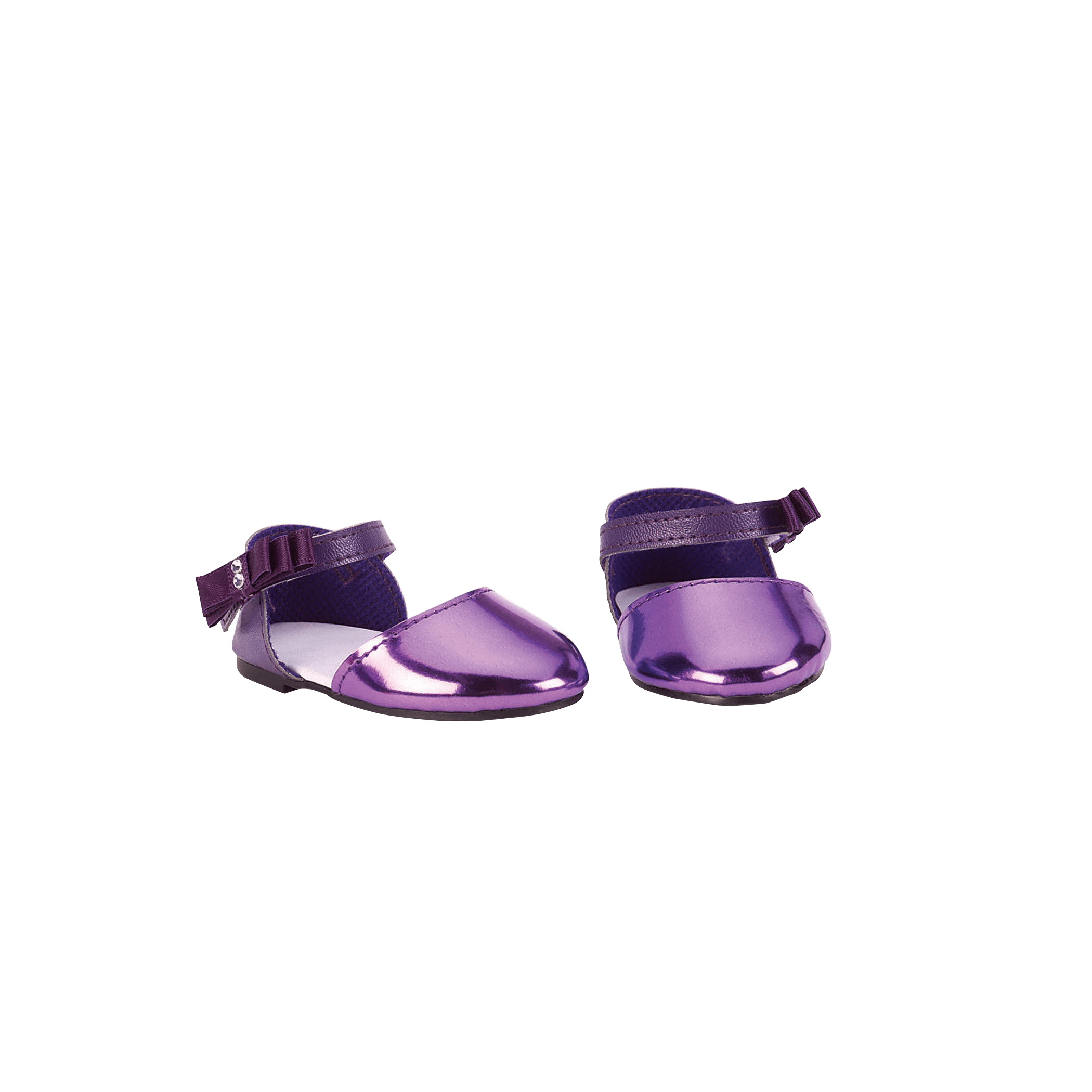 Patent Purple Fashion Shoes for 18-inch dolls