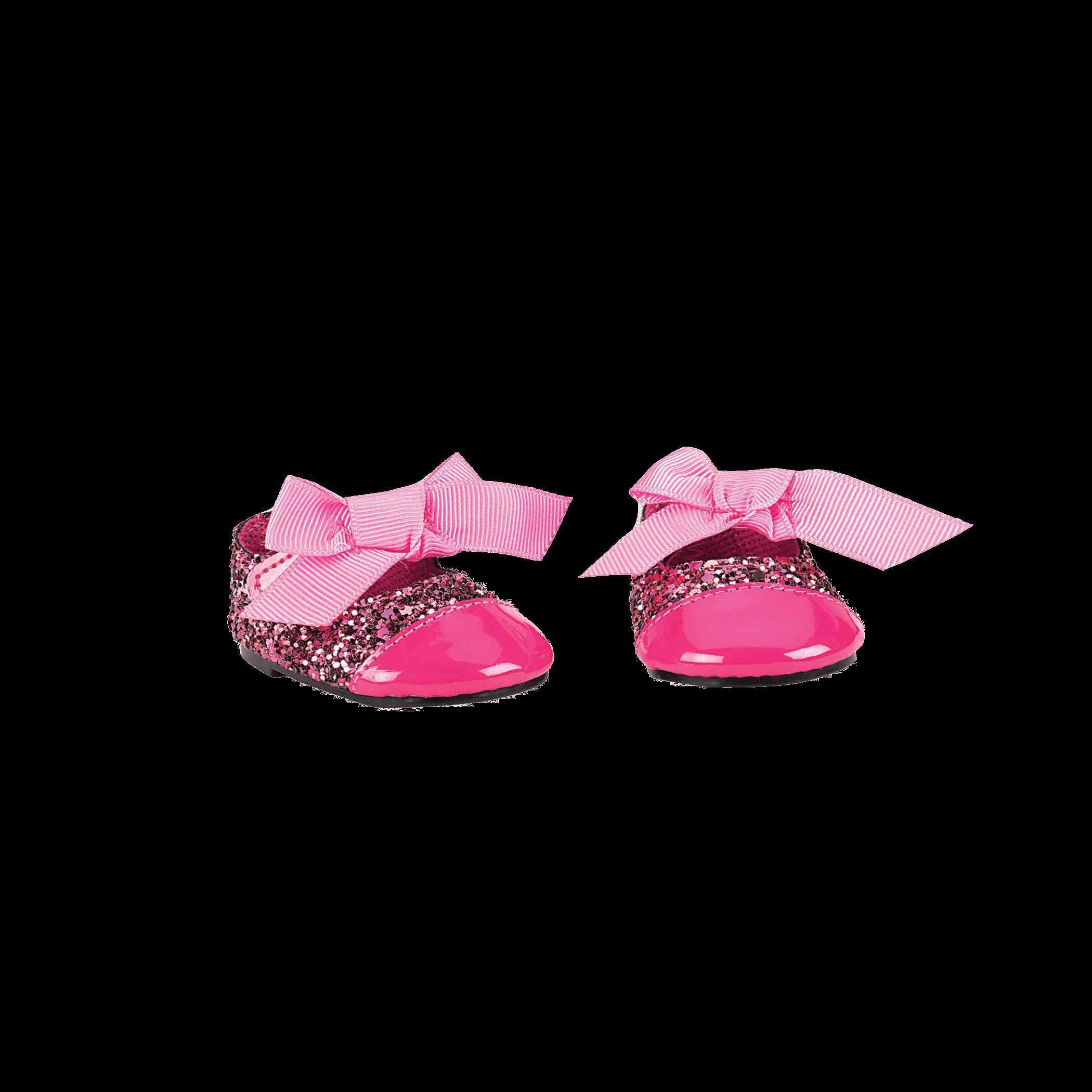 Glittering Fuchsia Fashion Shoes for 18-inch Dolls