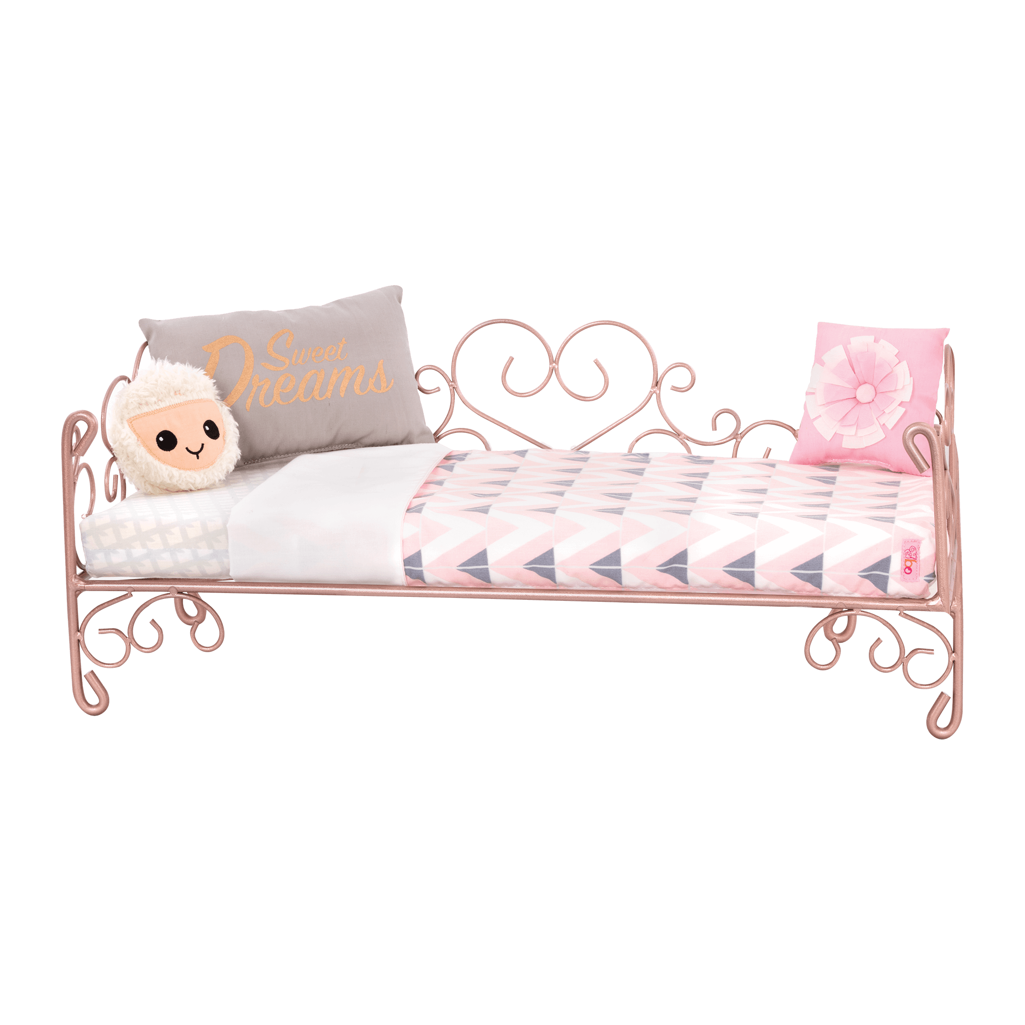 Sweet Dreams Scrollwork Bed for 18-inch Dolls