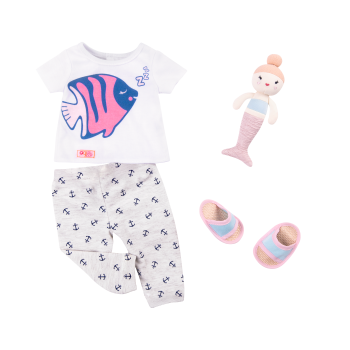 Seaside Sleepover Pajama Outfit for 18-inch Dolls