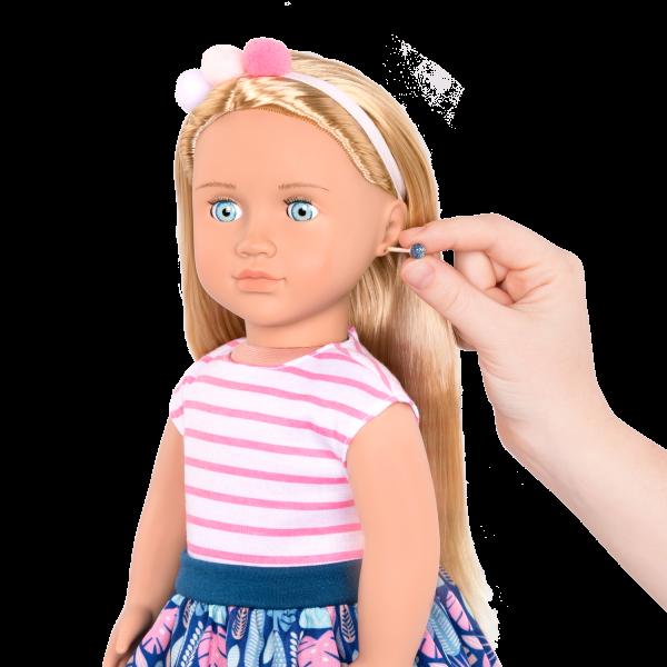 18-inch Jewelry Doll Alessia with Pierced Ears