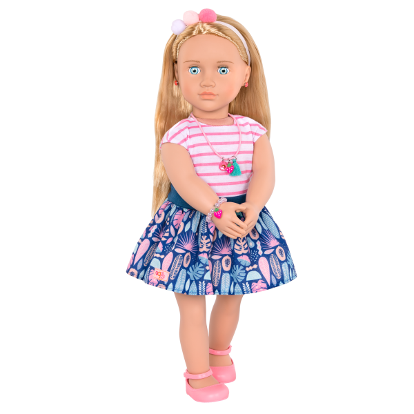 18-inch Jewelry Doll Alessia wearing jewelry