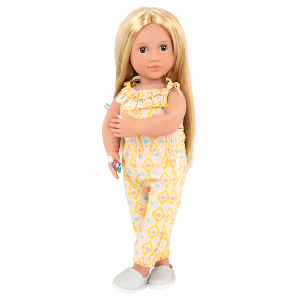Deluxe 18-inch Train Travel Doll Joanie with Jumpsuit Outfit